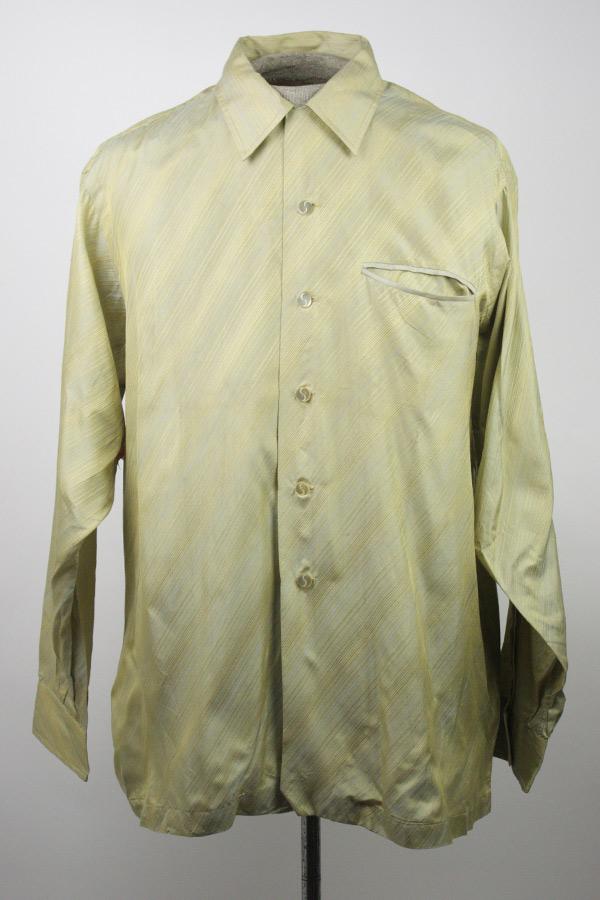 Schiaparelli vintage men 39 s multicolored diagonal striped for Striped button up shirt mens