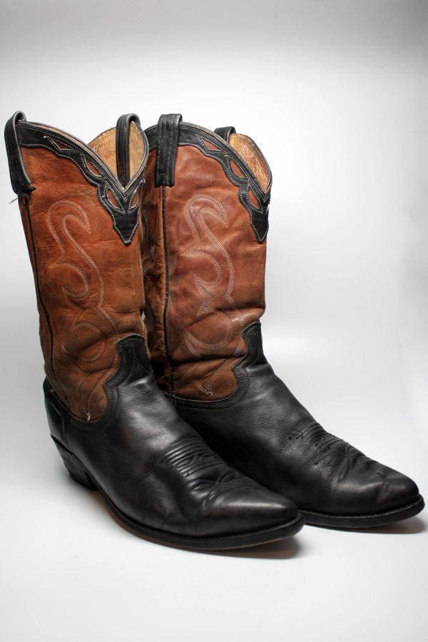 dan post mens two toned brown black leather boots w vibram