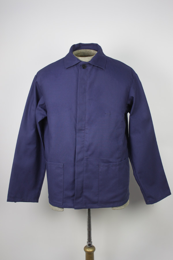 Navy Blue French Workman Button Up Shirt Bill Cunningham